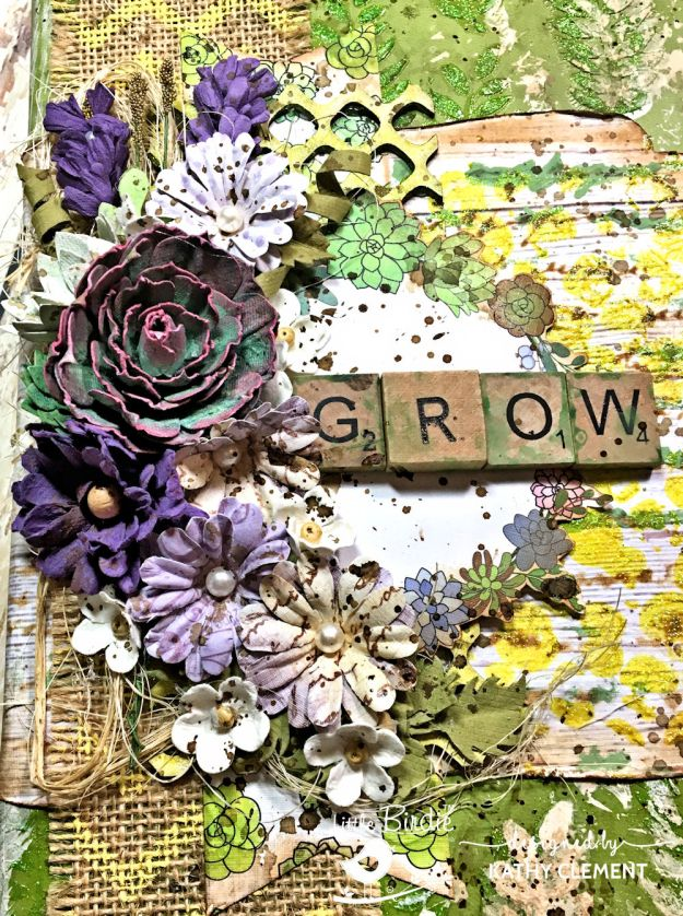 Little Birdie Crafts Succulent Garden Altered Journal Tutorial by Kathy Clement Photo 03