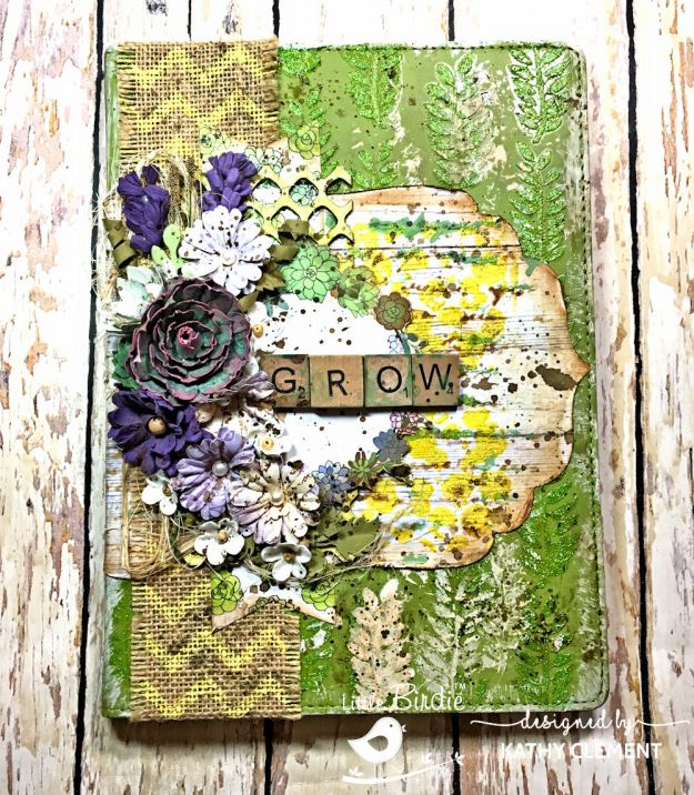 Little Birdie Crafts Succulent Garden Altered Journal Tutorial by Kathy Clement Photo 02