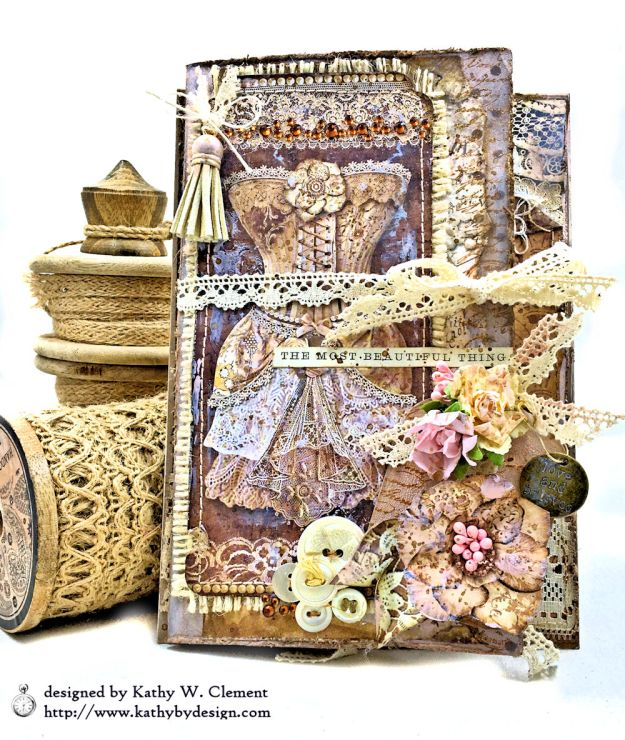 Stamperia Old Lace Feminine Flip Folio by Kathy Clement Photo 01