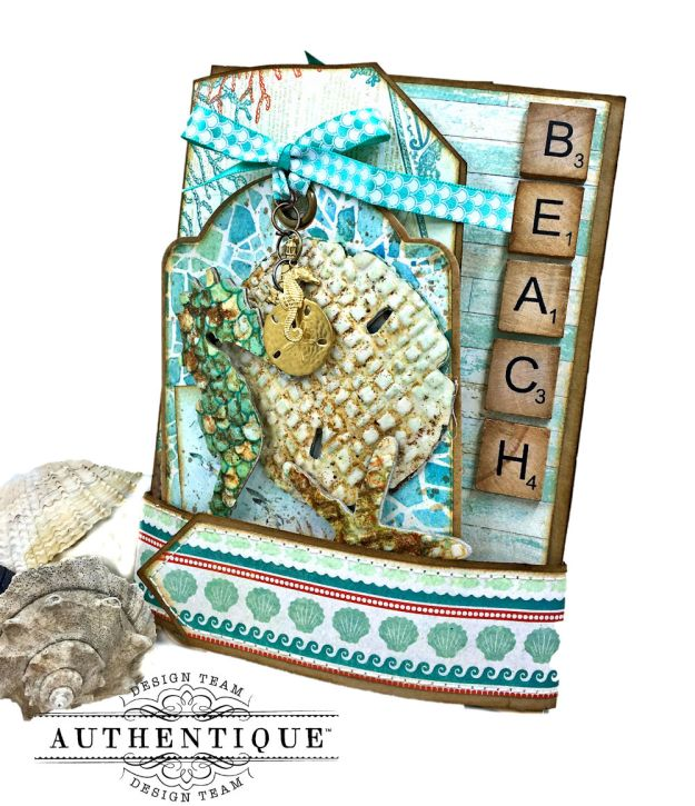 Sand and Sea Beach Walk Folio Sea Maiden by Kathy Clement Product by Authentique Photo 02