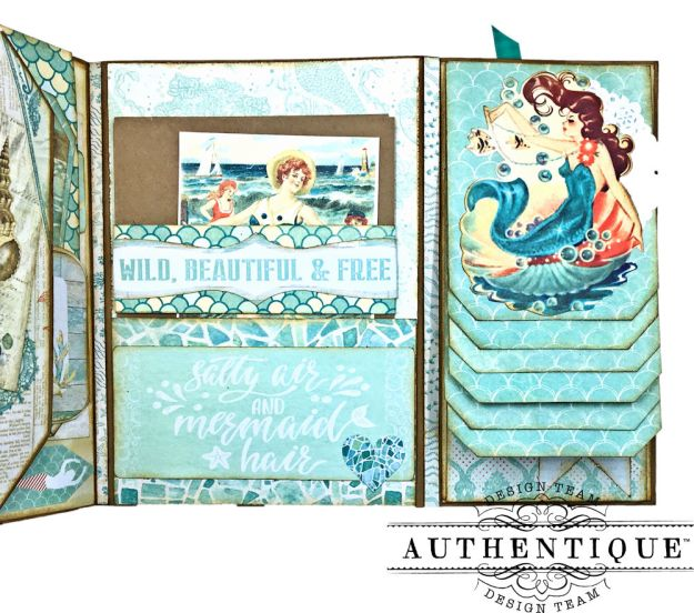 Sand and Sea Beach Walk Folio Sea Maiden by Kathy Clement Product by Authentique Photo 09