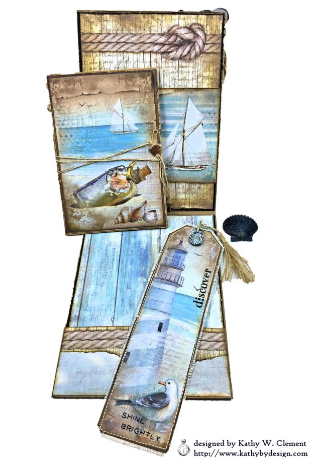 Sea Dreams Mixed Media Card Sea Land by Kathy Clement Product by Stamperia Photo 10
