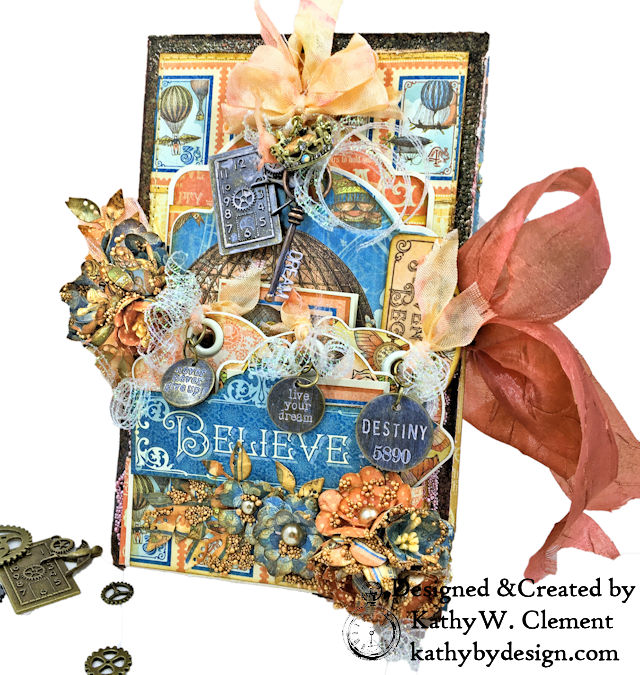 Graphic 45 Imagine Collection Steampunk Tag Folio by Kathy Clement for the Funkie Junkie Boutique Photo 01
