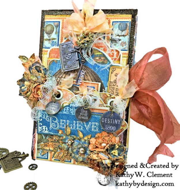 Graphic 45 Imagine  Steampunk Tag Folio by Kathy Clement for the Funkie Junkie Boutique Photo 01