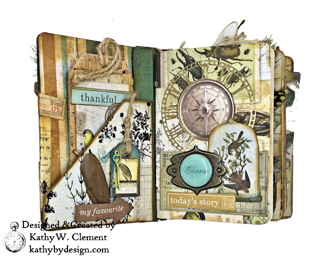 Eileen Hull Passport Mini with Kaisercraft Anthology Collection by Kathy Clement Photo 4