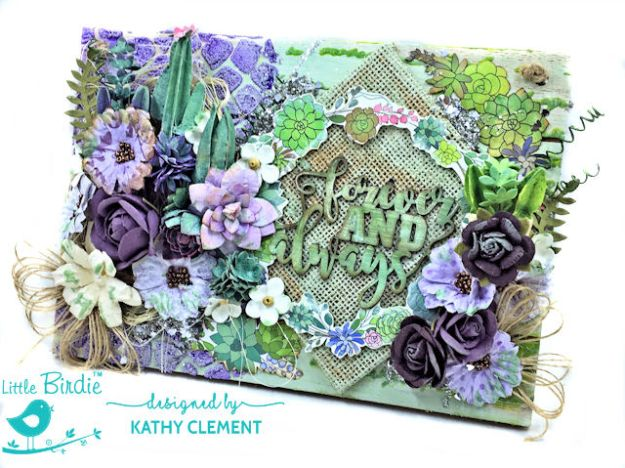 Little Birdie Crafts Altered Wood Pallet Tutorial Embossing Texture Paste by Kathy Clement Product by Little Birdie Crafts Photo 02