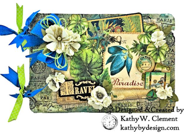 Tropical Travelogue Mini Album Tropical Travelogue by Kathy Clement Product by Graphic 45 Photo 01