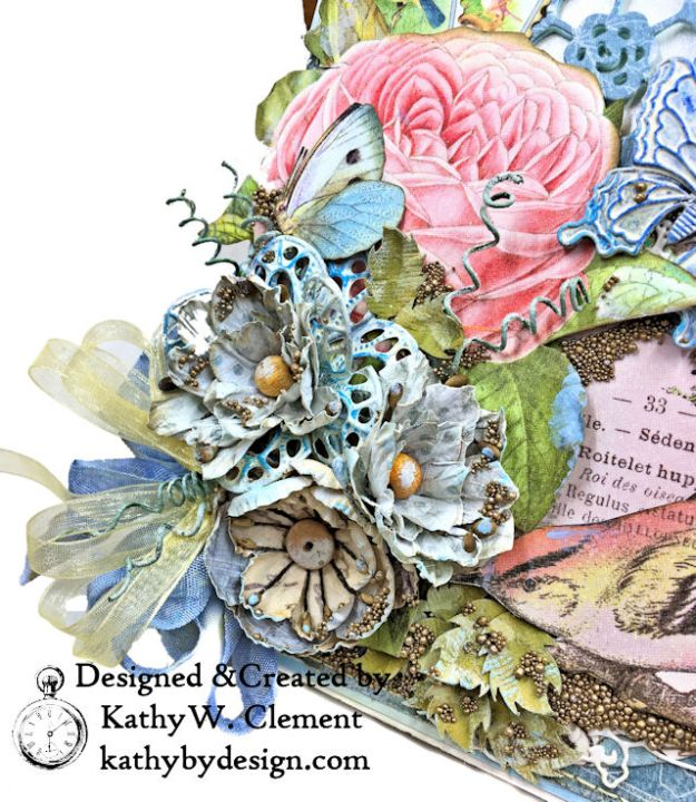 Graphic 45 Botanical Tea Songbird Folio by Kathy Clement for the Funkie Junkie Boutique Photo 04
