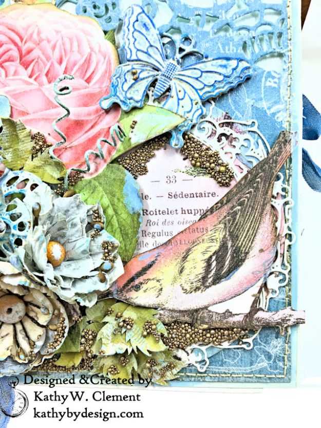 Graphic 45 Botanical Tea Songbird Folio by Kathy Clement for the Funkie Junkie Boutique Photo 03