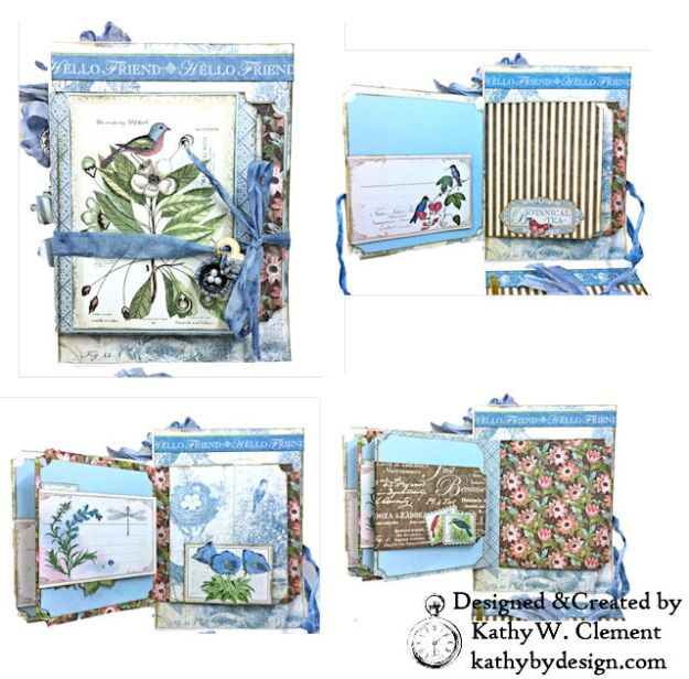 Graphic 45 Botanical Tea Songbird Folio by Kathy Clement for the Funkie Junkie Boutique Photo 06