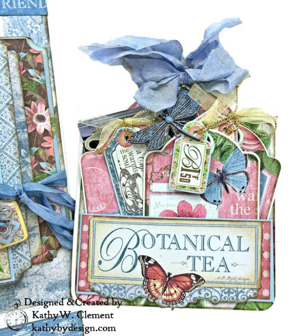 Graphic 45 Botanical Tea Songbird Folio by Kathy Clement for the Funkie Junkie Boutique Photo 09