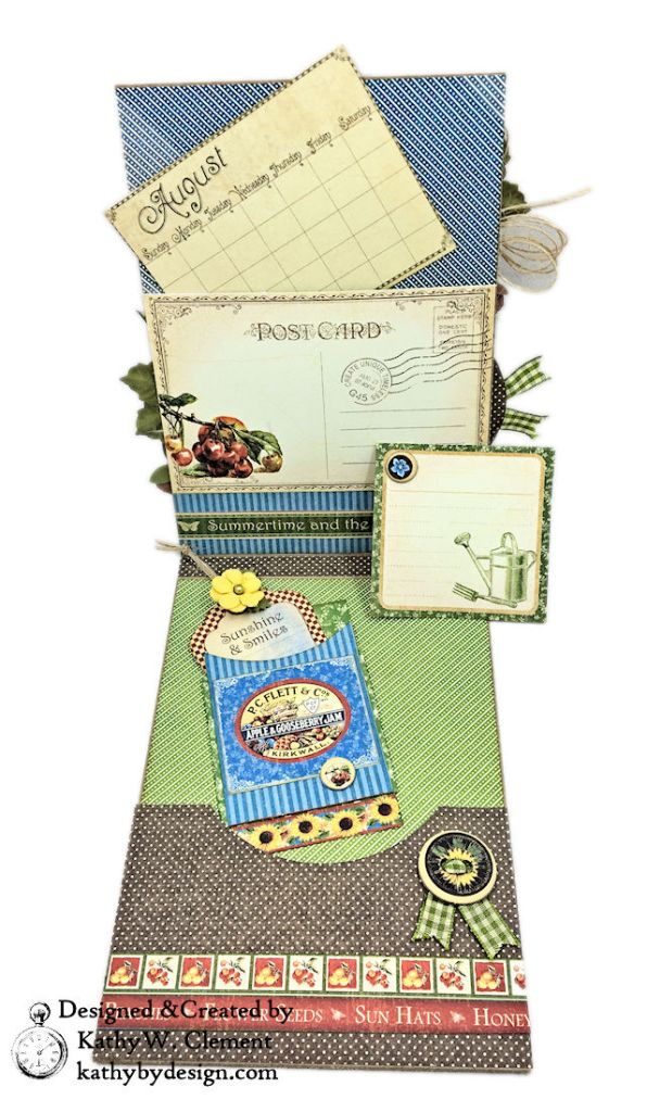 Graphic 45 Place in Time Garden Themed Birthday Card Tutorial by Kathy Clement Photo 05