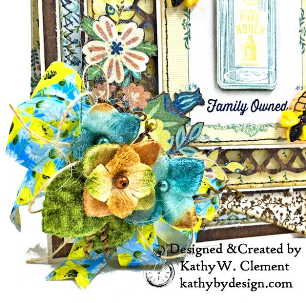 Authentique Meadow Pure Honey Greeting Card by Kathy Clement for Really Reasonable Ribbon Photo 03