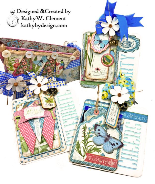 Graphic 45 Botanical Tea Party Box by Kathy Clement for Really Reasonable Ribbon Photo 04