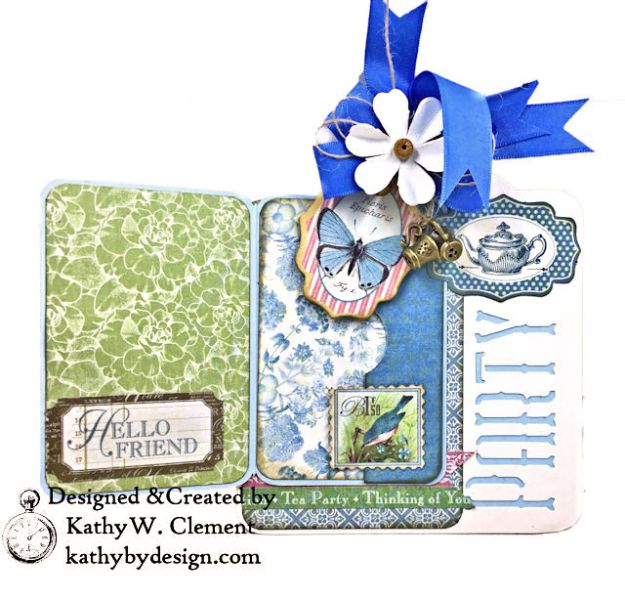 Graphic 45 Botanical Tea Party Box by Kathy Clement for Really Reasonable Ribbon Photo 08