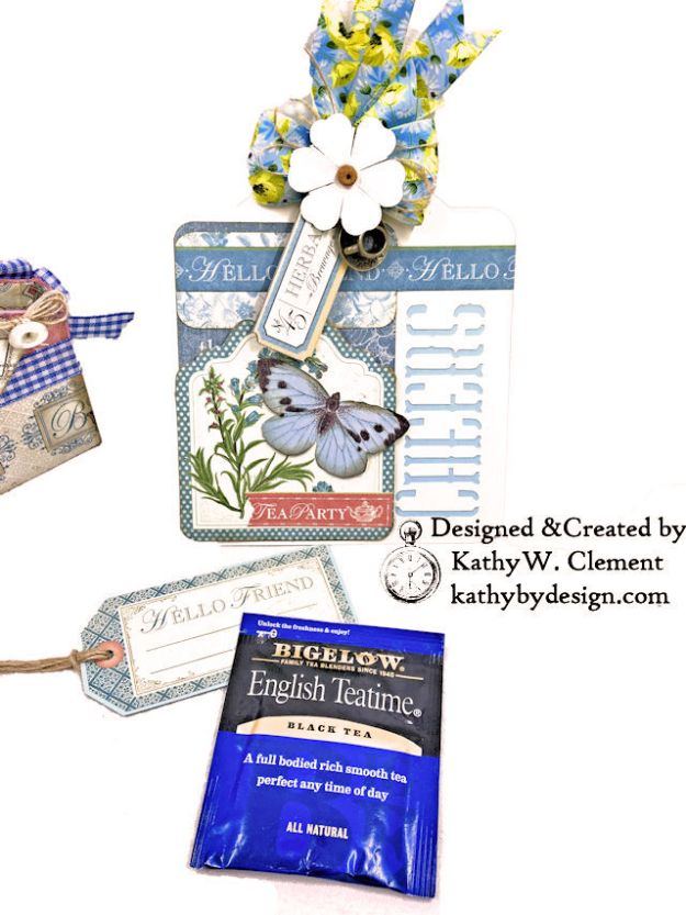 Graphic 45 Botanical Tea Party Box by Kathy Clement for Really Reasonable Ribbon Photo 06
