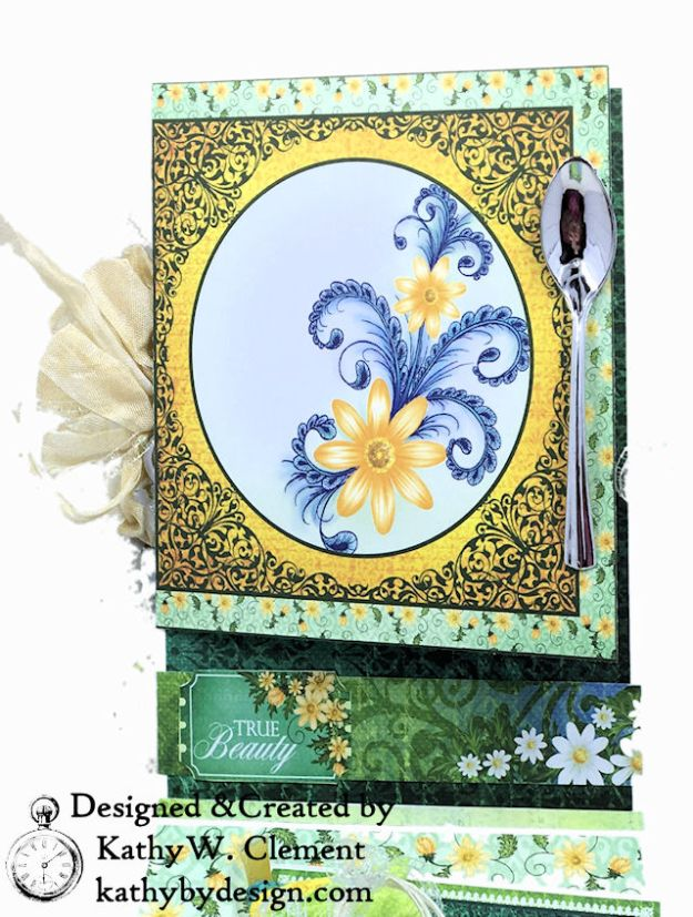 Heartfelt Creations Delightful Daisies Peacock Paisley Card Folio by Kathy Clement Photo 06