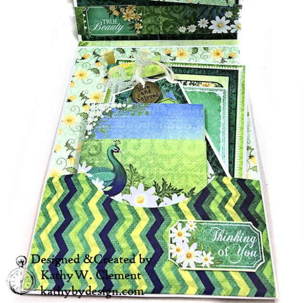 Heartfelt Creations Delightful Daisies Peacock Paisley Card Folio by Kathy Clement Photo 08