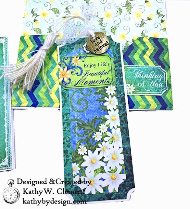 Heartfelt Creations Delightful Daisies Peacock Paisley Card Folio by Kathy Clement Photo 10