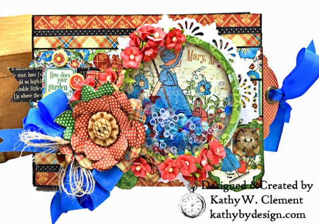 Home Sweet Home Garden Themed Mother Goose Shaker Top Folio by Kathy Clement for Really Reasonable Ribbon Product by Graphic 45 Photo 01