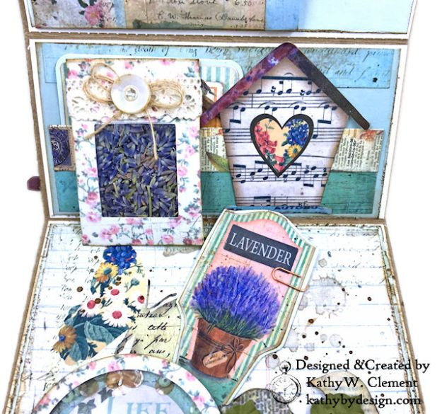 Stamperia Life Began in a Garden Easel Card Garden by Kathy Clement for Really Reasonable Ribbon Product Photo 07
