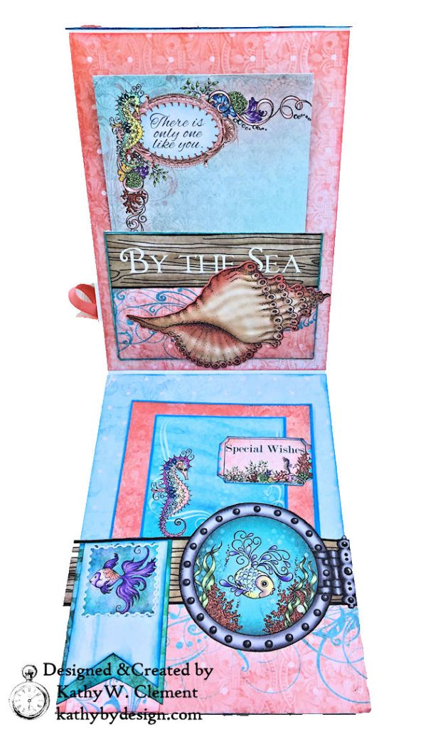 Heartfelt Creations Coral Sea Birthday Shaker Card Under the Sea by Kathy Clement Photo 05