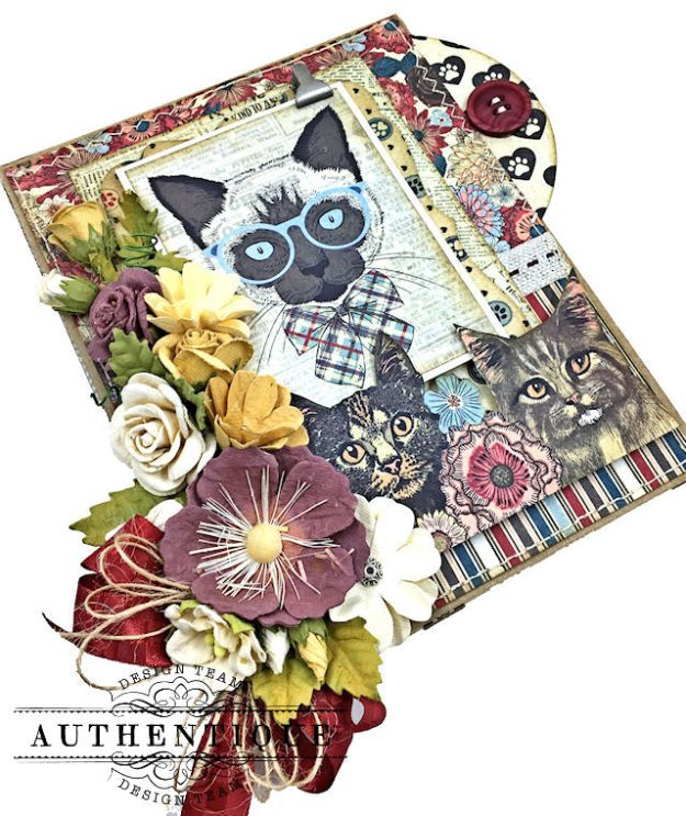 Authentique Companions Furry Friends Card Folio Tutorial by Kathy Clement Photo 07