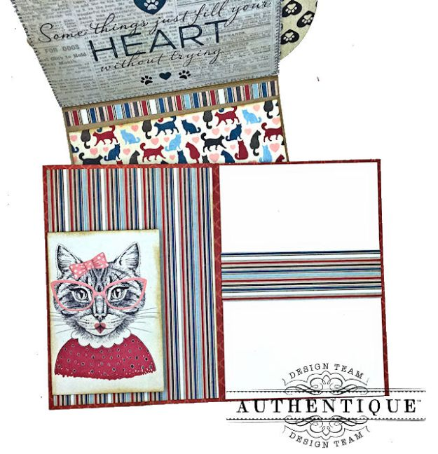 Authentique Companions Furry Friends Card Folio Tutorial by Kathy Clement Photo 08