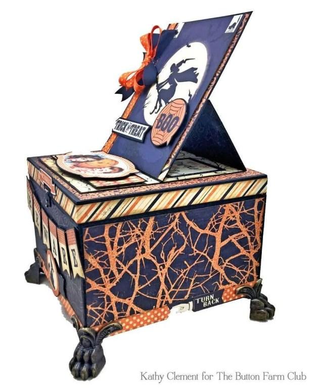 Authentique Nightfall Halloween Treat Box Mini Album Kit by Kathy Clement for Button Farm Club Photo 03