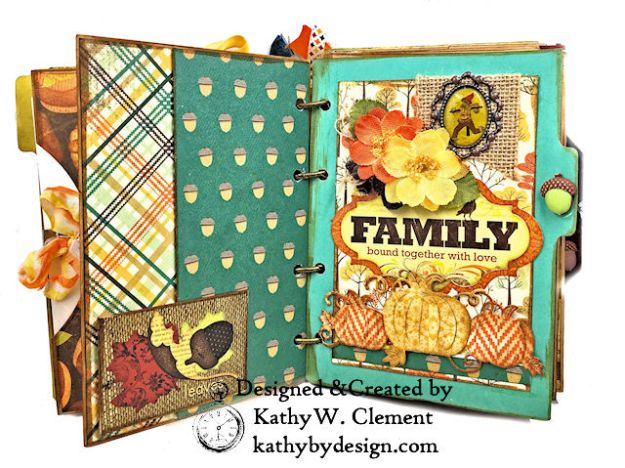 Fabulous Fall Stash Buster Mini Album by Kathy Clement for Really Reasonable Ribbon Photo 04