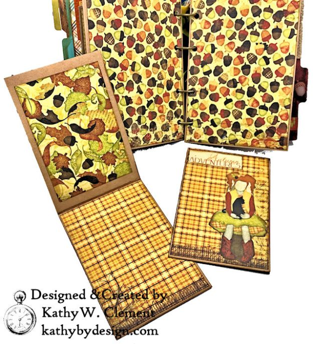 Fabulous Fall Stash Buster Mini Album by Kathy Clement for Really Reasonable Ribbon Photo 06