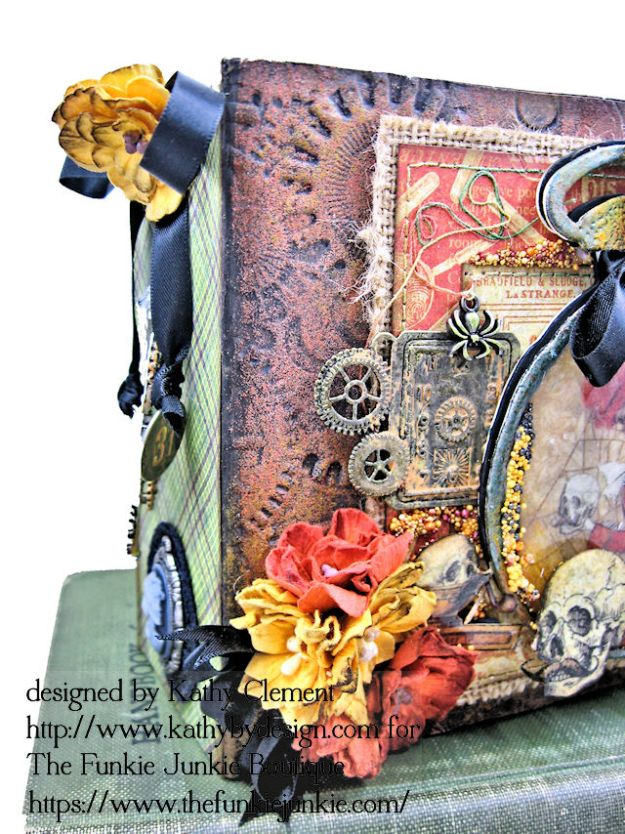 G45 Master Detective Faux Rust Mini Album by Kathy Clement for The Funkie Junkie Boutique Photo 03