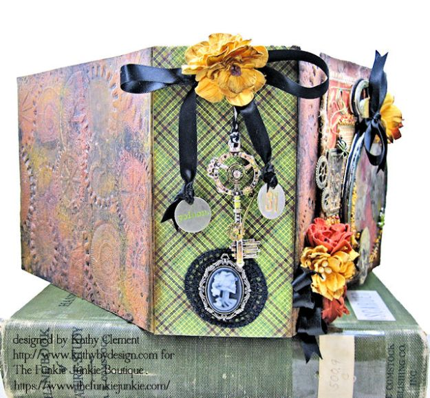 G45 Master Detective Faux Rust Mini Album by Kathy Clement for The Funkie Junkie Boutique Photo 05