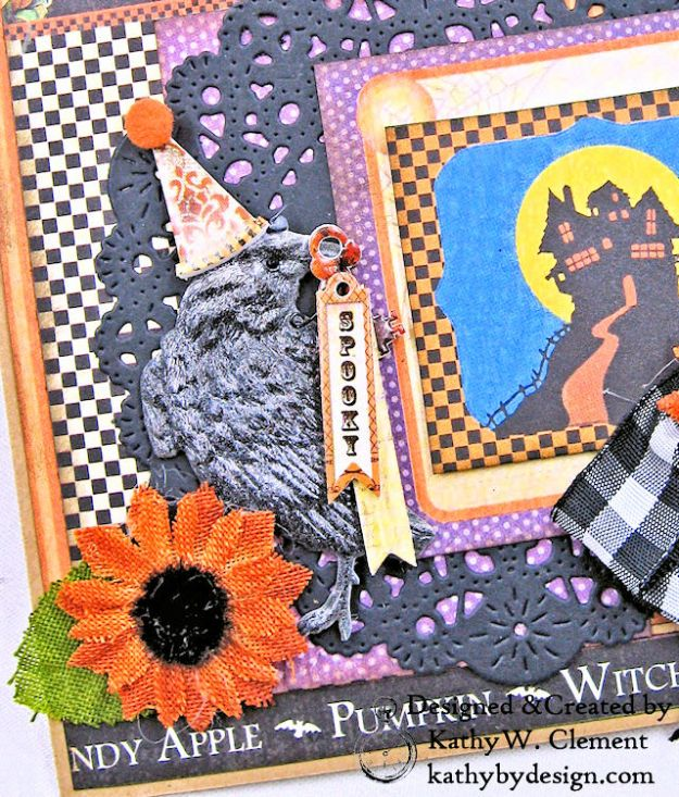#Simply G45 Halloween Pocket Cards Tutorial Place in Time by Kathy Clement Product by Graphic 45 Photo 3