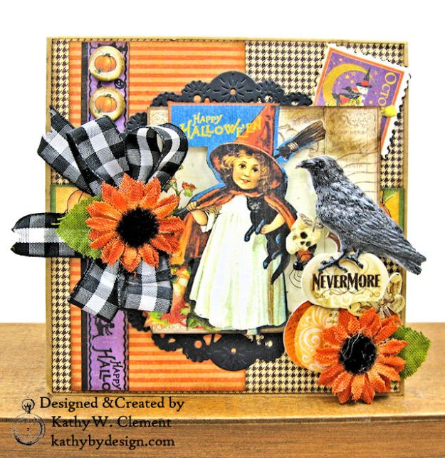 #SimplyG45 Halloween Pocket Cards Tutorial Place in Time Master Detective by Kathy Clement Product by Graphic 45 Photo 05