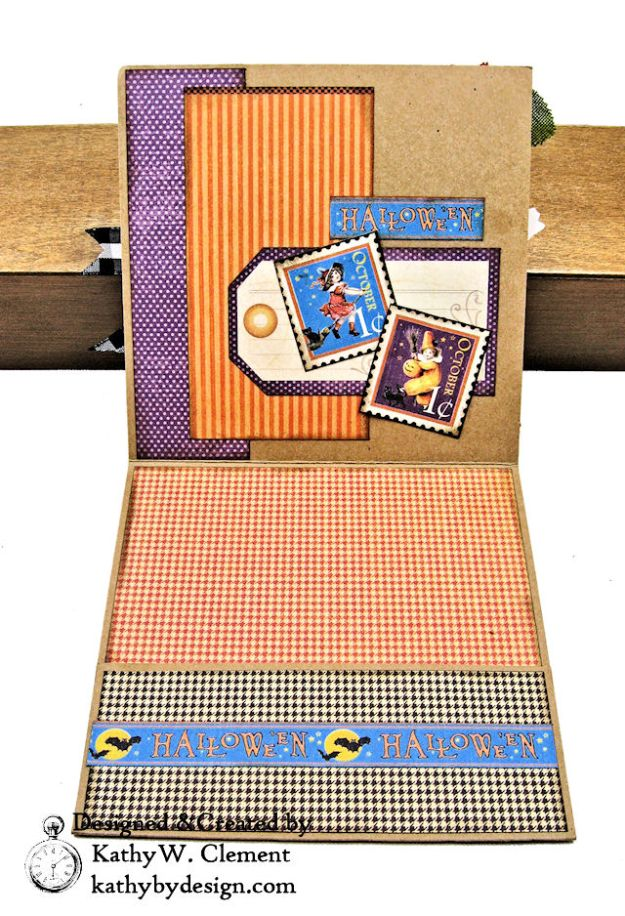 #SimplyG45 Halloween Pocket Cards Tutorial Place in Time Master Detective by Kathy Clement Product by Graphic 45 Photo 06