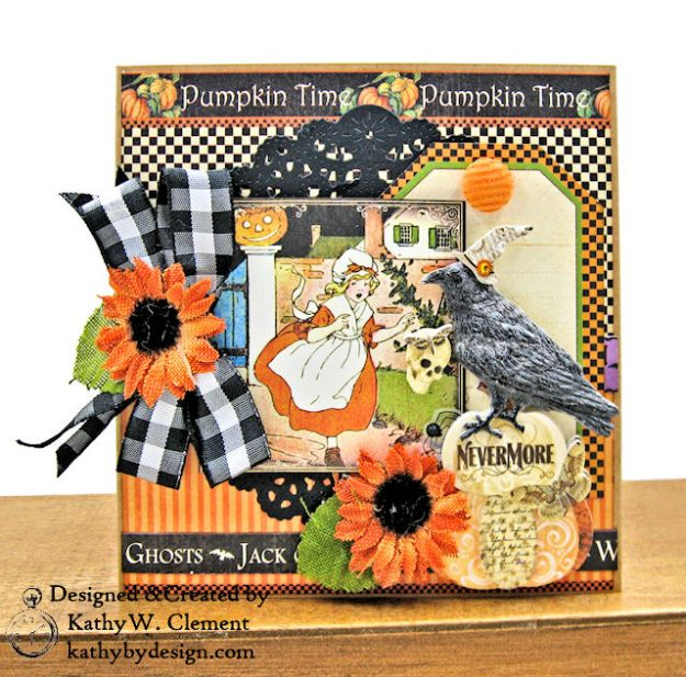 #SimplyG45 Halloween Pocket Cards Tutorial Place in Time Master Detective by Kathy Clement Product by Graphic 45 Photo 07