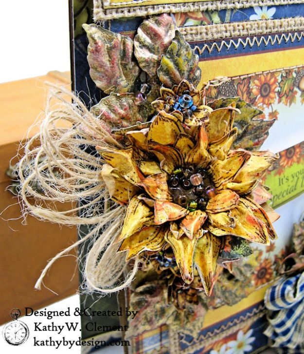 Heartfelt Creations Rustic Sunflowers Card Folio Beary Fun Retreat by Kathy Clement Photo 03