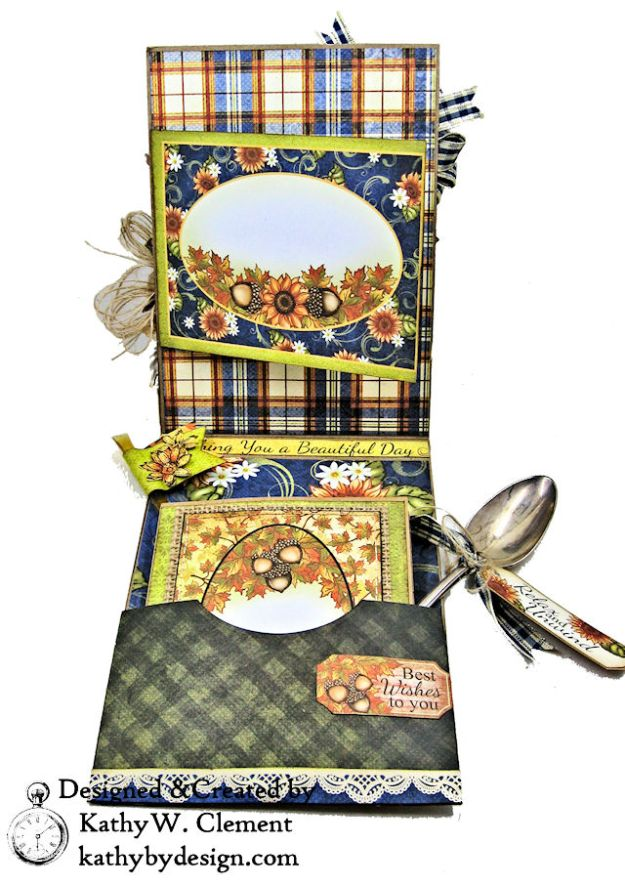 Heartfelt Creations Rustic Sunflowers Card Folio Beary Fun Retreat by Kathy Clement Photo 05