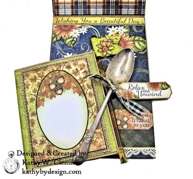 Heartfelt Creations Rustic Sunflowers Card Folio Beary Fun Retreat by Kathy Clement Photo 07