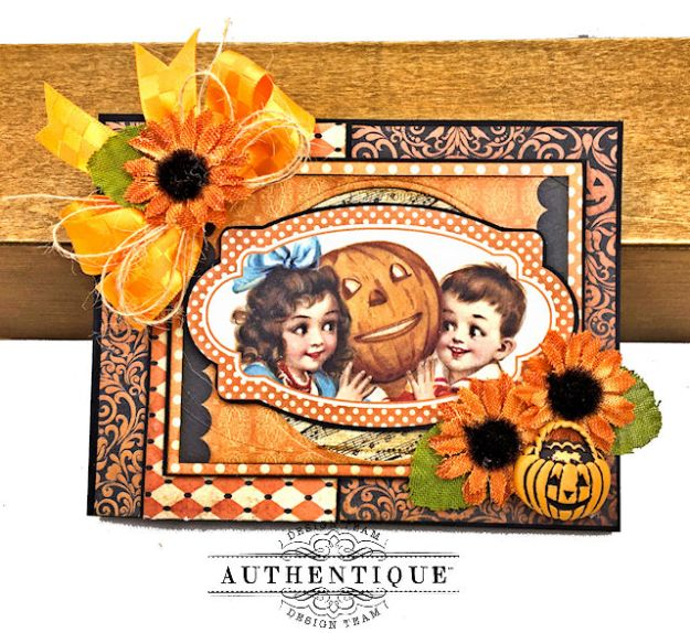 Authentique Nightfall Halloween Gift Card Tutorial by Kathy Clement for Authentique Paper Photo 09