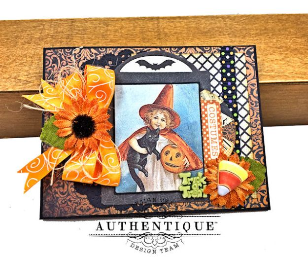 Authentique Nightfall Halloween Gift Card Tutorial by Kathy Clement for Authentique Paper Photo 02