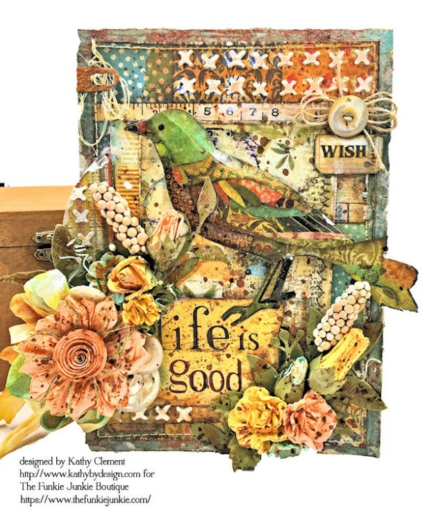Stamperia Patchwork Life is Good Card Folio by Kathy Clement for The Funkie Junkie Boutique Photo 02