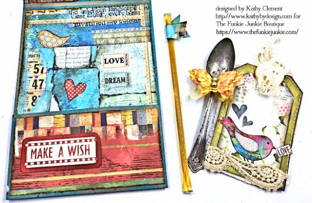 Stamperia Patchwork Life is Good Card Folio by Kathy Clement for The Funkie Junkie Boutique Photo 11