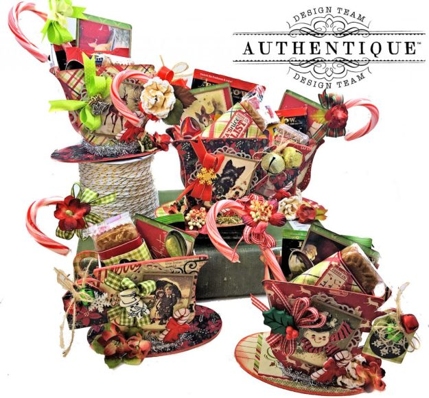Authentique Nostalgia Christmas Teacups by Kathy Clement Photo 01
