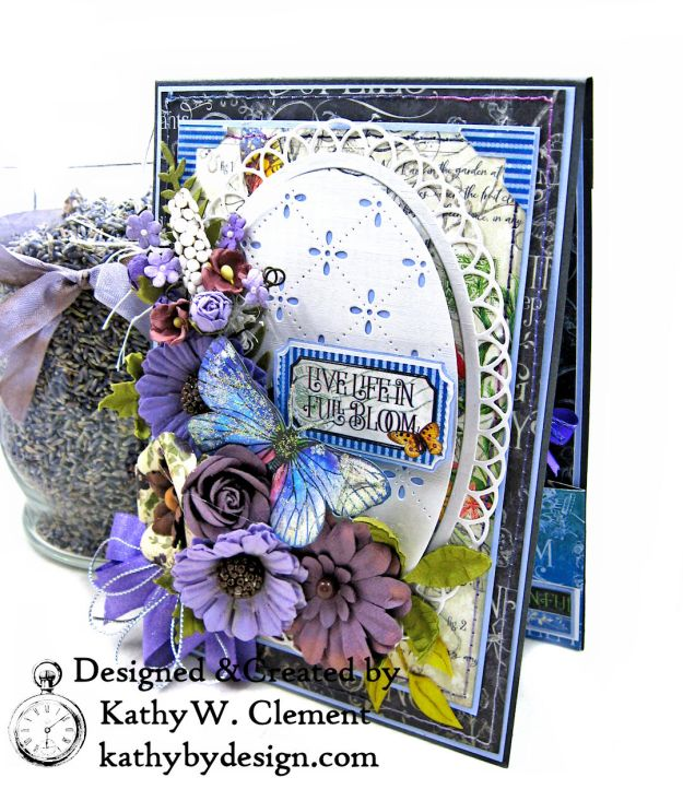 Graphic 45 Flutter Full Bloom Card Folio by Kathy Clement for Really Reasonable Ribbon Photo 02
