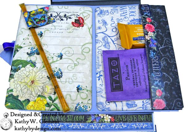 Graphic 45 Flutter Full Bloom Card Folio by Kathy Clement for Really Reasonable Ribbon Photo 10