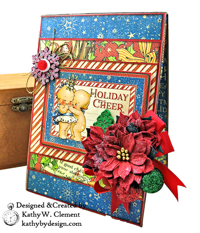 Holiday Cheer Christmas Magic Card Folio by Kathy Clement for Really Reasonable Ribbon Product by Graphic 45 Photo 01