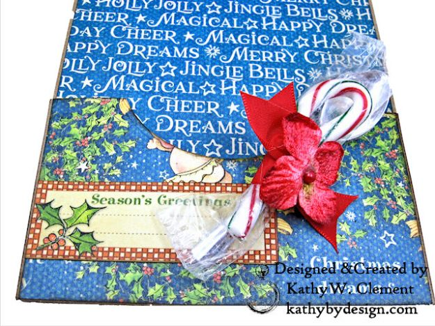 Holiday Cheer Christmas Magic Card Folio by Kathy Clement for Really Reasonable Ribbon Product by Graphic 45 Photo 07