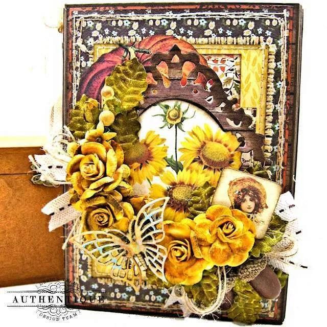 Authentique Pleasant Autumn Trifold Folio Tutorial by Kathy Clement Photo 01